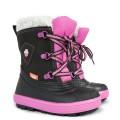 DEMAR - Dětská zimní obuv BILLY 1501 černá-růžová