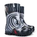 DEMAR - Dětské barevné holínky TWISTER PRINT 0037 S zebra